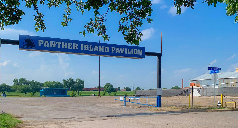 Parking Entrance for Panther Island Pavilion