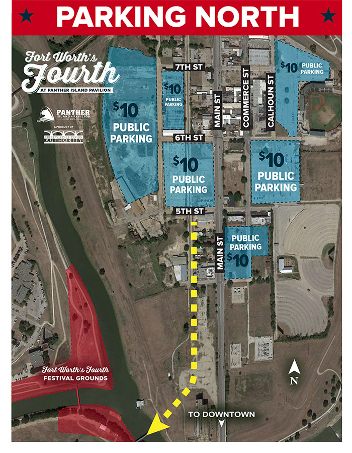 Directions - Maps and Parking - Fort Worth's Fourth